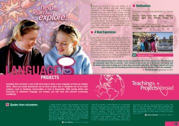 Language Project Profile - Projects Abroad