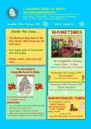 Newsletter dec 06 - Craigmillar Books for Babies