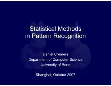 Statistical Methods in Pattern Recognition - PICB