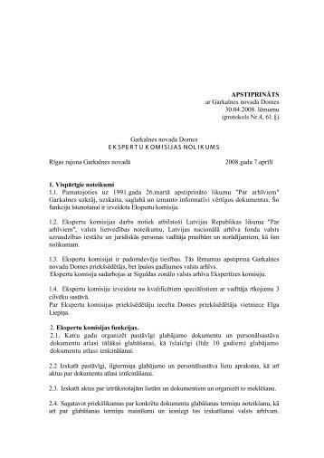 Ekspertu komisijas nolikums