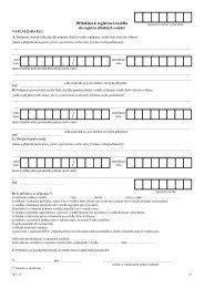 Přihláška k registraci vozidla do registru silničních vozidel