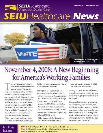 SEIU Healthcare Issue No. 17 December 1, 2008