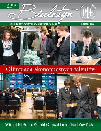 Olimpiada ekonomicznych talentów - Polskie Towarzystwo ...