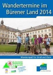 Wandertermine im Bürener Land 2014