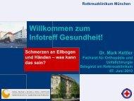 Schmerzen an Ellbogen und Händen - Rotkreuzklinikum München