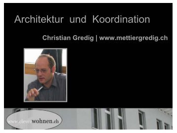 Architektur und Koordination - Clever & Smart