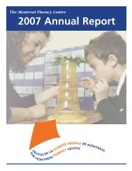 2007 Annual Report - Montreal Fluency