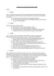 Nationaler gewerblicher Rechtsschutz (1999) TEIL1 1. Aufgabe Am ...