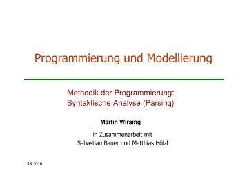 Syntaktische Analyse - Programmierung und Softwaretechnik (PST)