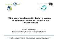 Wind power development in Spain – a success story between ...