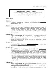 Seznam zákonů, vyhlášek a předpisů