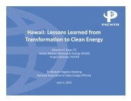 Hawaii: Lessons Learned from Transformation to Clean Energy