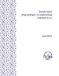 Sociale kaart Jong zwanger- en ouderschap Lelystad (e.o.) Juni 2011