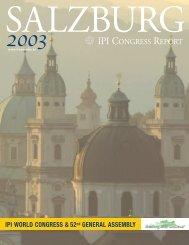 IPI CONGRESS REPORT - IPI World Congress