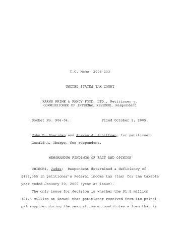 TC Memo. 2005-233 - U.S. Tax Court