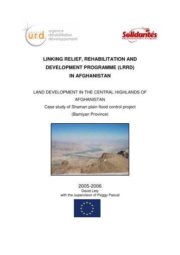 Case study of shaman plain flood control project ... - Groupe URD