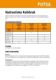 Hydrauliska Kalkbruk - Finja