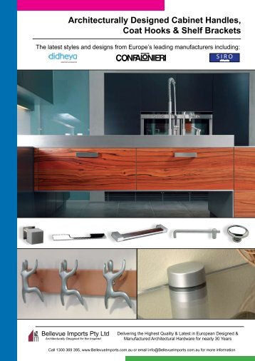 Architecturally Designed Cabinet Handles, Coat ... - Bellevue Imports