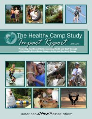 Healthy Camp Study: Impact Report - American Camp Association