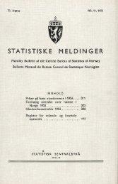 og kvartalsstatistikk - SSB