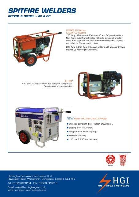 SPITFIRE WELDERS - HGI Generators