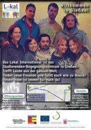 Flyer Lokal International - Studentenwerk Gießen
