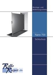 Seitenmarkise Nano 700 - Rollo Rieper