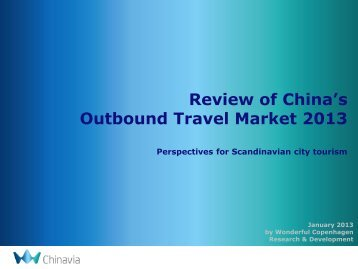 Review of China's Outbound Travel Market - Copenhagen