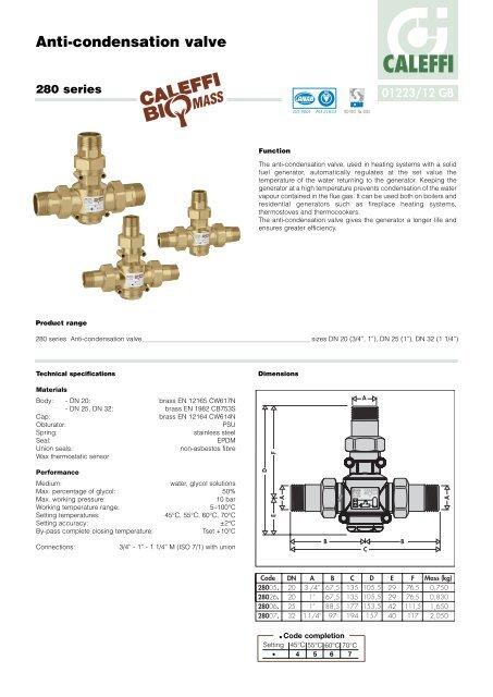 caleffi zone valve wiring diagram anti condensation valve caleffi  anti condensation valve caleffi