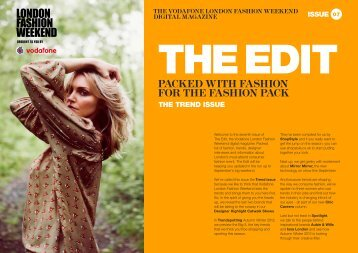 the vodafone london fashion weekend digital magazine