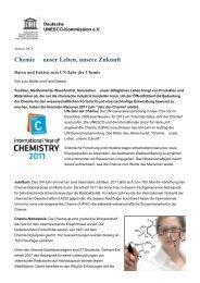 Chemie unser Leben, unsere Zukunft - Unesco