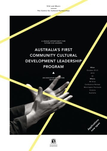 AustrAliA's first CoMMunity CulturAl DeVelopMent leADersHip ...