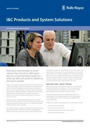 I&C Products and System Solutions - Rolls-Royce