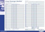 Group Passenger Manifest - Brittany Ferries