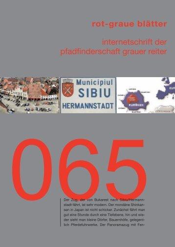rgb 065 - Die Schriftleitung