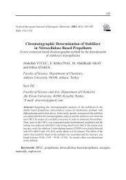 Chromatographic Determination of Stabilizer in Nitrocellulose Based ...