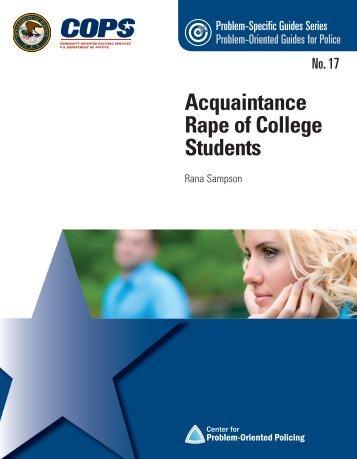 Acquaintance Rape of College Students - Cops - Department of ...