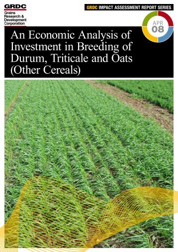 Other Cereals - Grains Research & Development Corporation