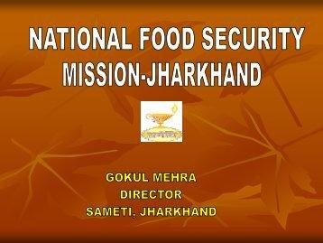 NFSM Jharkhand Presentation - Sameti.org