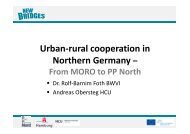 Urban-rural cooperation in Northern Germany – - New Bridges