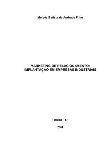 marketing de relacionamento – implantação em ... - Ppga.com.br