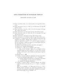 LISTA EXERCÍCIOS DE INTEGRAIS TRIPLAS (1) Fazer exercıcios 3 ...