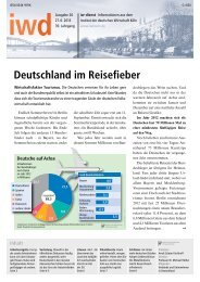 Deutschland im Reisefieber - Institut der deutschen Wirtschaft