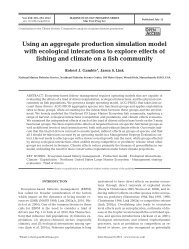 Using an aggregate production simulation model with ecological ...