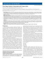 Poor Sleep Quality is Associated with Preterm Birth - UCLA | Health ...