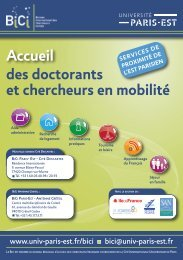Télécharger le flyer bilingue - Université Paris-Est
