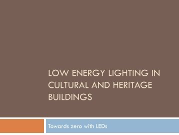 low energy lighting in cultural and heritage buildings - rehva