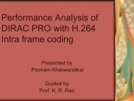 Performance Analysis of DIRAC PRO with H.264 Intra frame coding