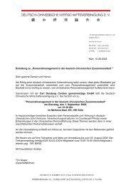 Einladung, Programm und Anmeldung zum ... - Carl Duisberg Centren