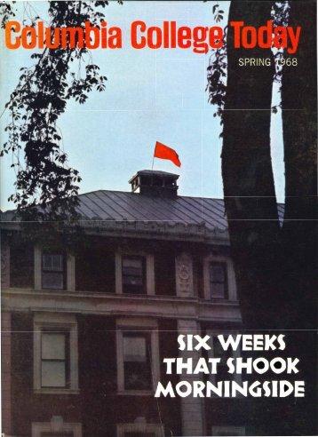 Spring 1968 (PDF) - Columbia College - Columbia University